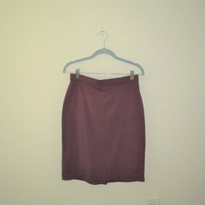 Women's Maroon Pencil Skirt